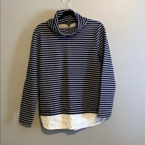 J. Crew Mercantile navy striped turtle neck